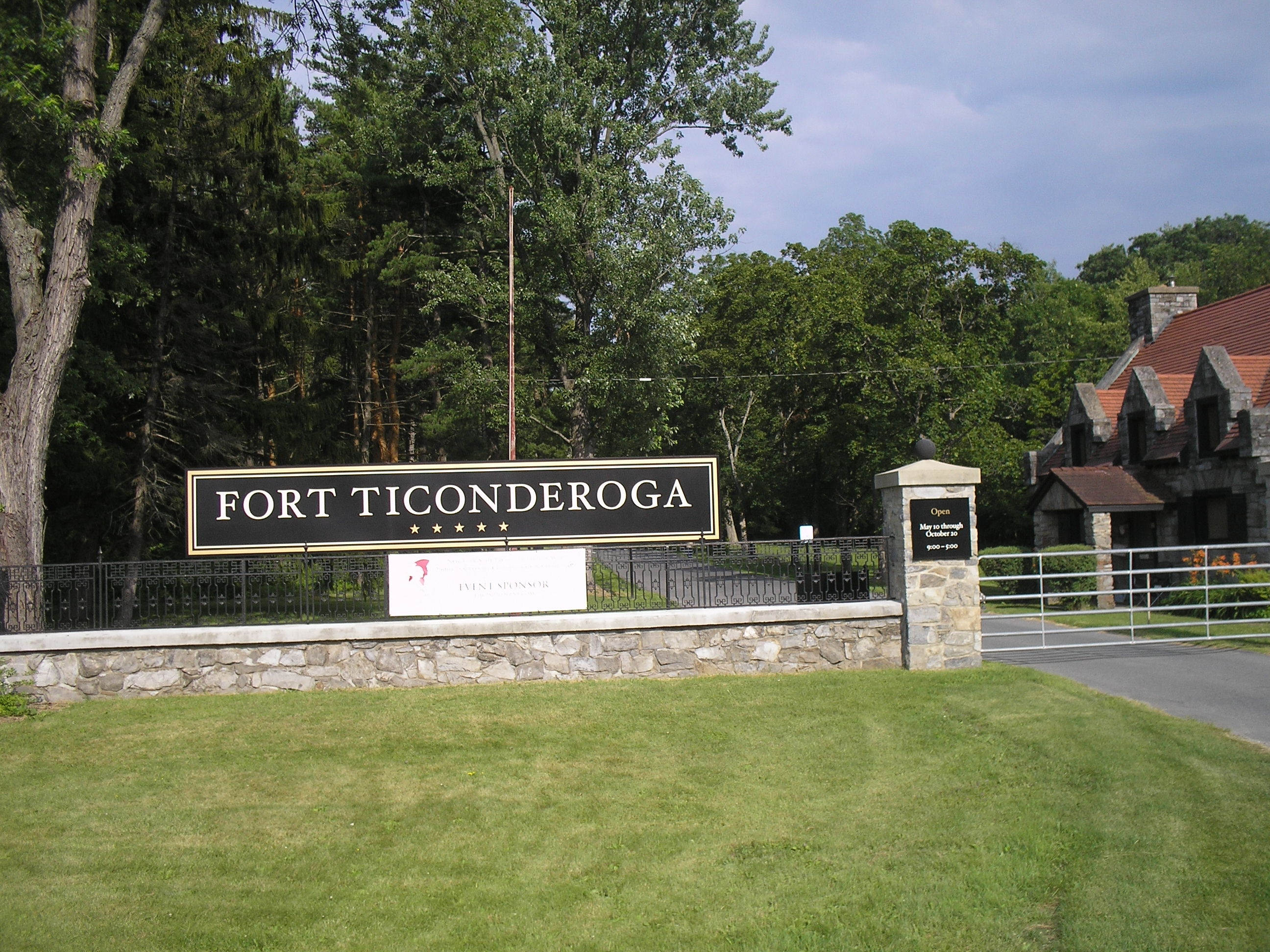 Entrance to Fort Ticonderoga
