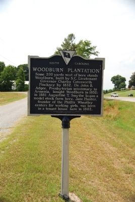 Woodburn Plantation Marker image. Click for full size.