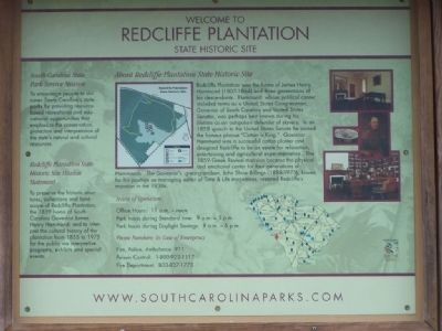 Redcliffe Plantation Marker image. Click for full size.