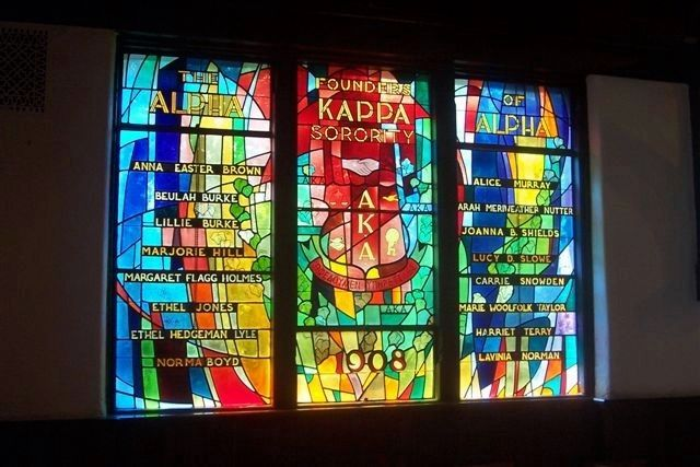 AKA Founder's Window, Andrew Rankin Chapel image. Click for full size.
