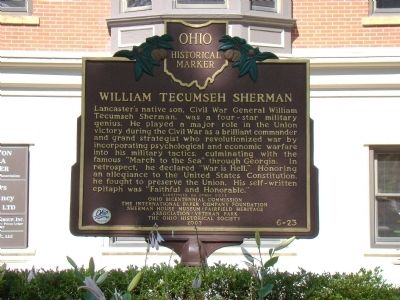 William Tecumseh Sherman Marker, Side One image. Click for full size.