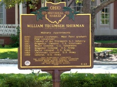 William Tecumseh Sherman Marker, Side Two image. Click for full size.