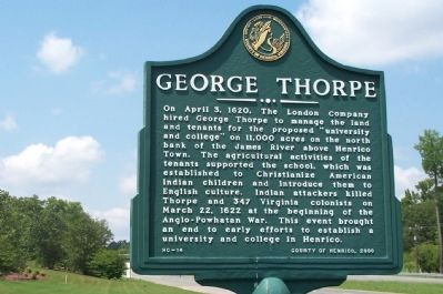 George Thorpe Marker image. Click for full size.