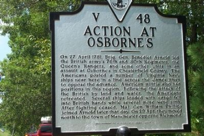 Action at Osborne's Marker image. Click for full size.