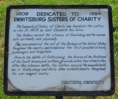 Emmitsburg Sisters of Charity Marker image. Click for full size.