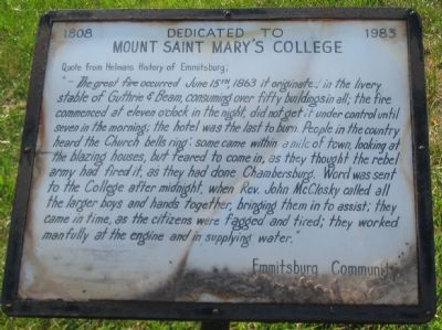 Mount Saint Mary's College Marker image. Click for full size.