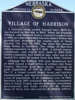 Village of Harrison Marker image. Click for full size.