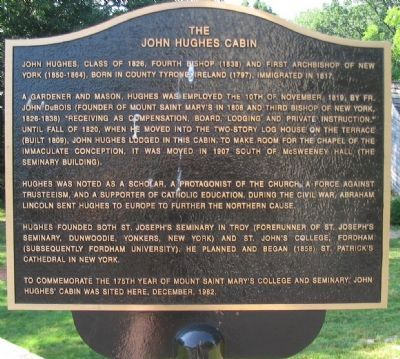 The John Hughes Cabin Marker image. Click for full size.