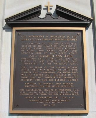 Plaque on the Bell Tower image. Click for full size.