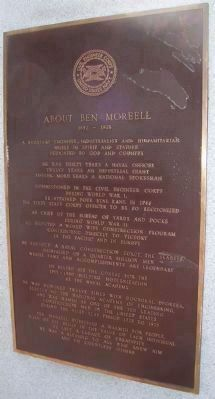 "Admiral Ben Moreell Marker </b>(Second Panel: ""About Ben Moreell"") image. Click for full size."