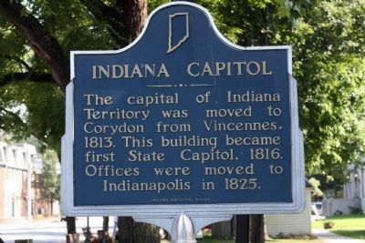 Indiana Capitol Marker image. Click for full size.