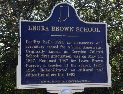 Leora Brown School Marker image. Click for full size.