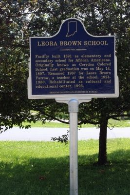 Leora Brown School Marker - Wide View image. Click for full size.