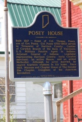 Posey House Marker image. Click for full size.