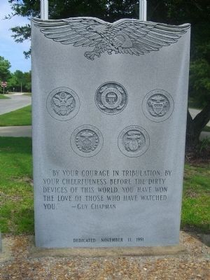 Dare County&#39;s Tribute to Veterans Marker </b> (Center Panel) image. Click for full size.