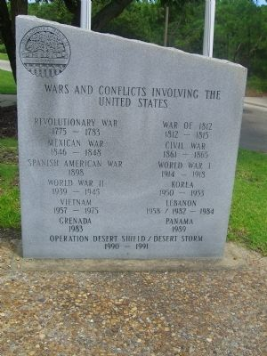 Dare County&#39;s Tribute to Veterans Marker </b>(Right Panel) image. Click for full size.