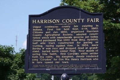 Harrison County (Indiana) Fair Marker image. Click for full size.