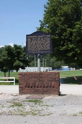 Harrison County (Indiana) Fair Entrance and Marker image. Click for full size.