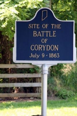 Battle of Corydon Marker image. Click for full size.