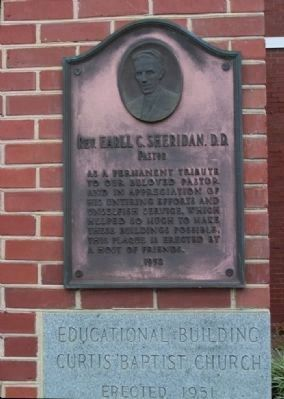 Curtis Baptist Church Plaque at right image. Click for full size.