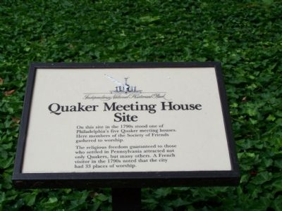 Quaker Meeting House Site Marker image. Click for full size.