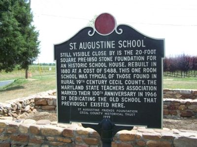 St. Augustine School Marker image. Click for full size.