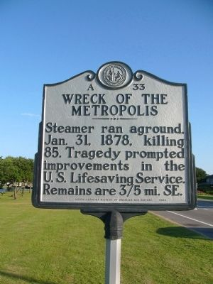 Wreck Of The Metropolis Marker image. Click for full size.