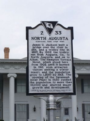North Augusta Marker side 2 image. Click for full size.
