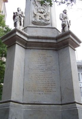 Augusta Confederate Monument Marker south face image. Click for full size.