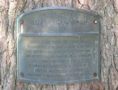 Samuel Hartford Marker image. Click for full size.