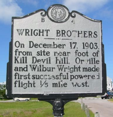 Wright Brothers Marker image. Click for full size.