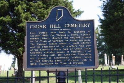 Cedar Hill Cemetery Marker image. Click for full size.