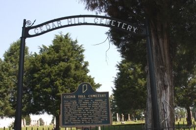 Cedar Hill Cemetery image. Click for full size.