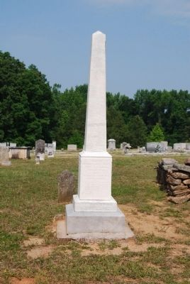 Moses Holland Monument -<br>Big Creek Church Cemetery image. Click for full size.