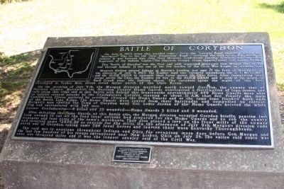 Battle of Corydon - - - History Marker image. Click for full size.
