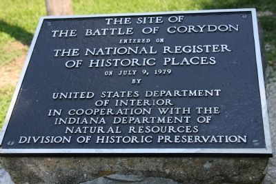 Battle of Corydon - - - Entered in National Register of Historic Places image. Click for full size.