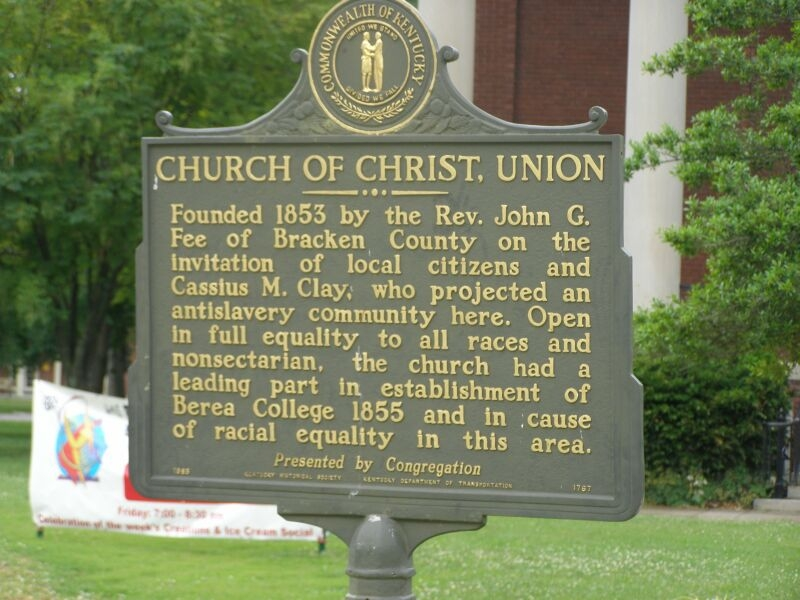 Church of Christ, Union Marker