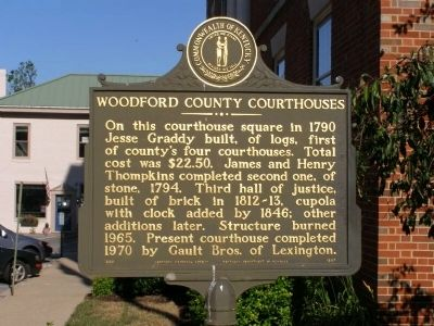 Woodford County Courthouse Marker image. Click for full size.