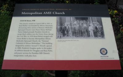 Metropolitan AME Church Marker image. Click for full size.