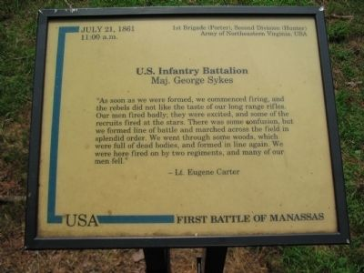 U.S. Infantry Battalion Marker image. Click for full size.