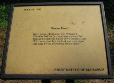 Farm Ford Marker image. Click for full size.