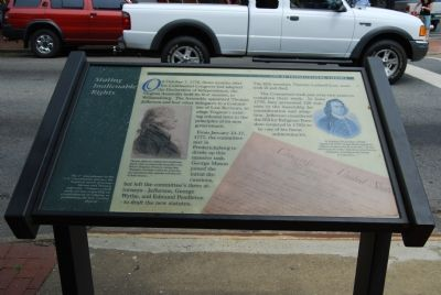Stating Inalienable Rights Marker image. Click for full size.