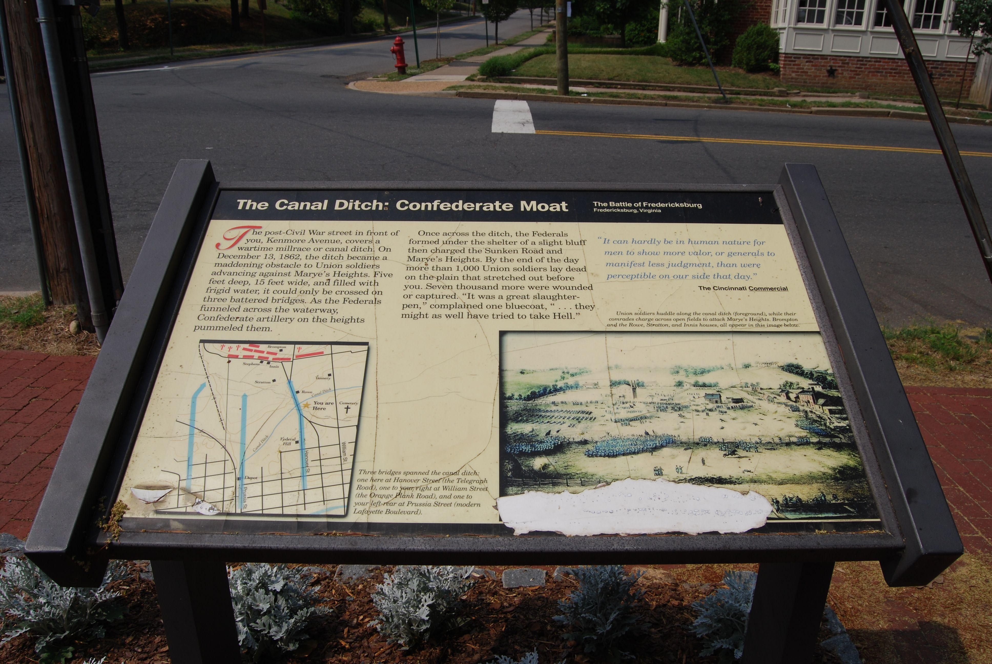 The Canal Ditch: Confederate Moat Marker