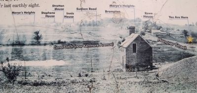 The Canal Ditch (now Kenmore Avenue) during the Civil War image. Click for full size.