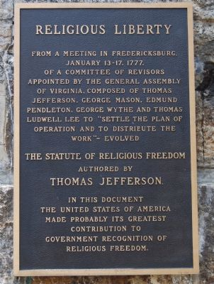 Religious Liberty Marker image. Click for full size.