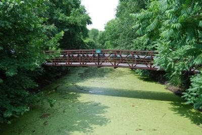 Pedestrian bridge over the Rappahannock Canal. image. Click for full size.