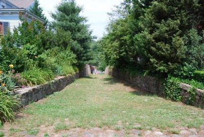 View down Rocky Lane to Rappahannock River image. Click for full size.