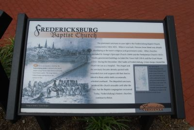 Fredericksburg Baptist Church Marker image. Click for full size.