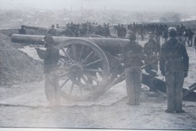 First Connecticut Artillery on Stafford Heights, 1863 image. Click for full size.