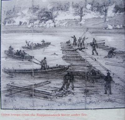 Union troops cross the Rappahannock image. Click for full size.